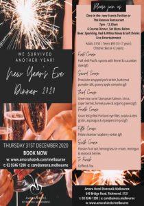 Amora Hotel Riverwalk - New Year's Eve Dinner - NYE Melbourne